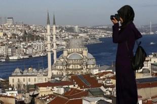 الوافدين الى سياحة تركيا