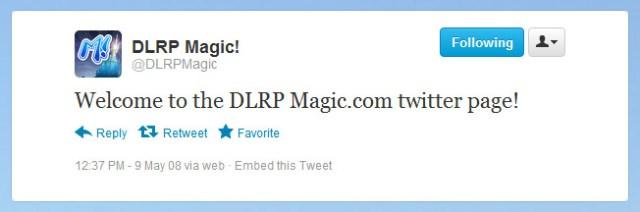First @DLRPMagic tweet