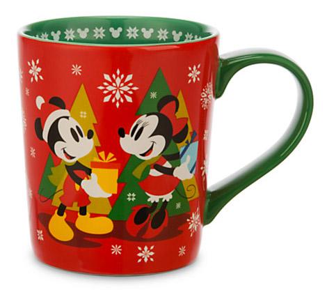 Mickey and Minnie Mouse Christmas Mug