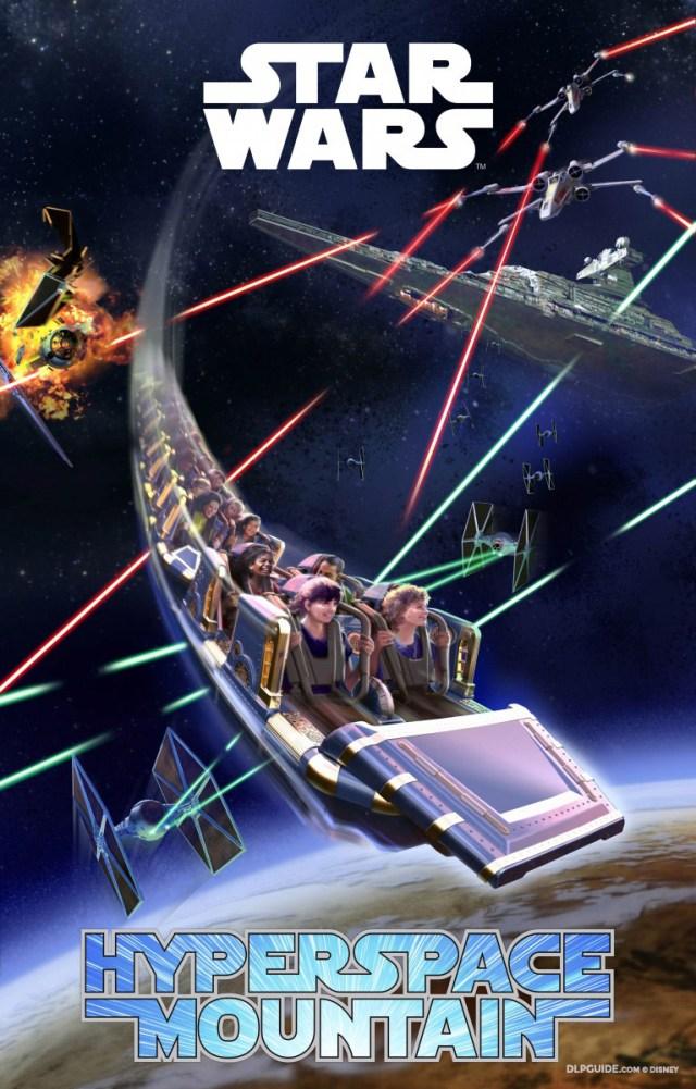 Star Wars Hyperspace Mountain: Rebel Mission Disneyland Paris poster artwork
