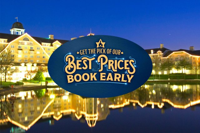 """Disneyland Paris """"Get the Pick of our Best Prices Book Early"""" logo"""