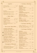 Hunter's Grill & Beaver Creek Tavern, Disney's Sequoia Lodge wine list