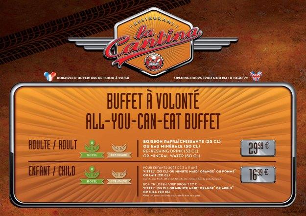 La Cantina, Disney's Hotel Santa Fe menu