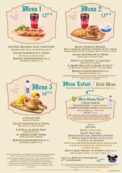 Au Chalet de la Marionnette menu
