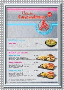 Café des Cascadeurs menu