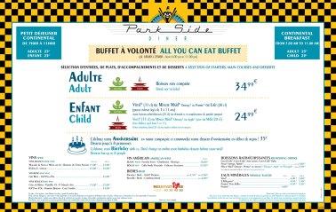 Parkside Diner menu