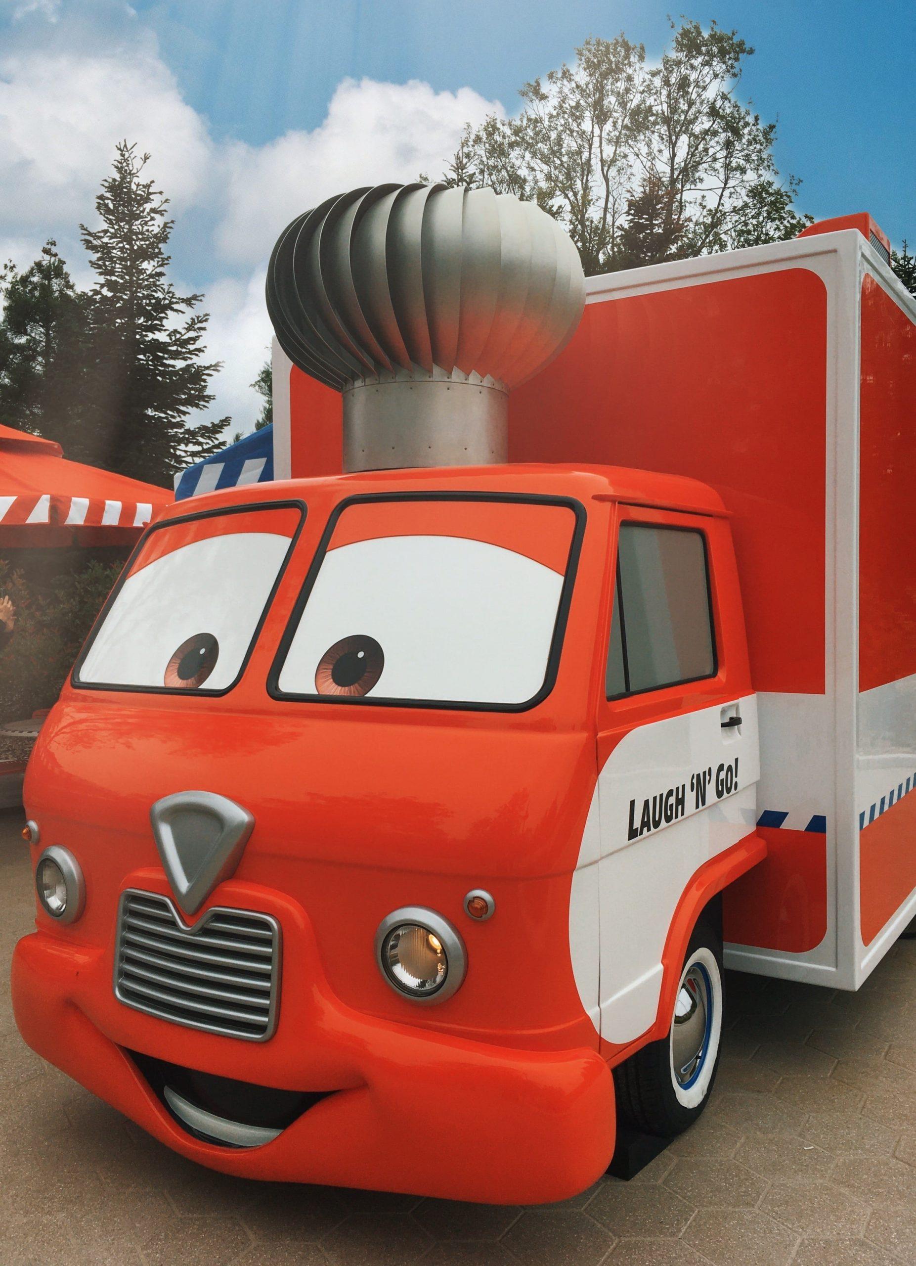 Cars Laugh 'n Go Food Truck in the Walt Disney Studios Park at Disneyland Paris Front View 2