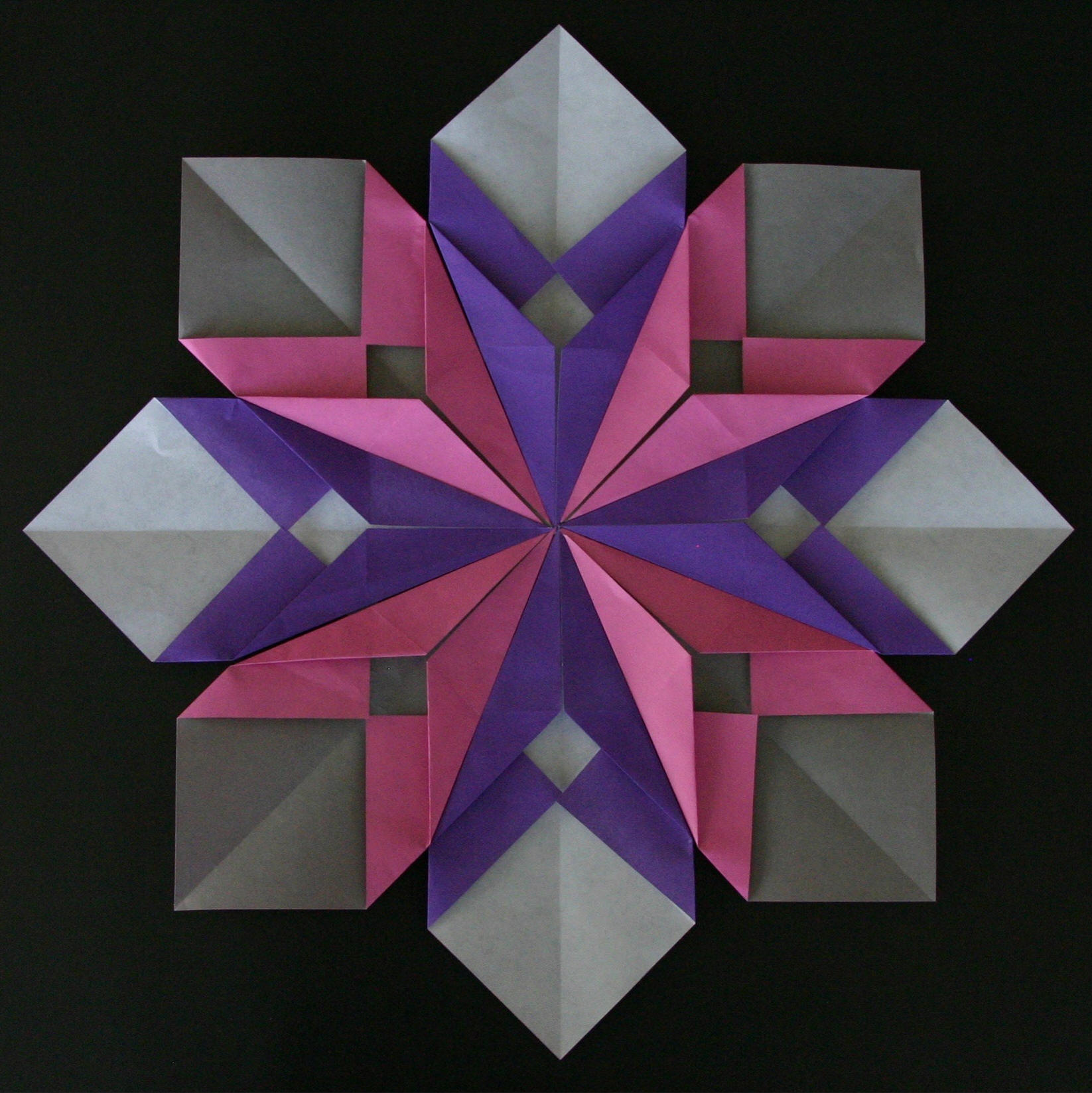 Origami Petals And Flower