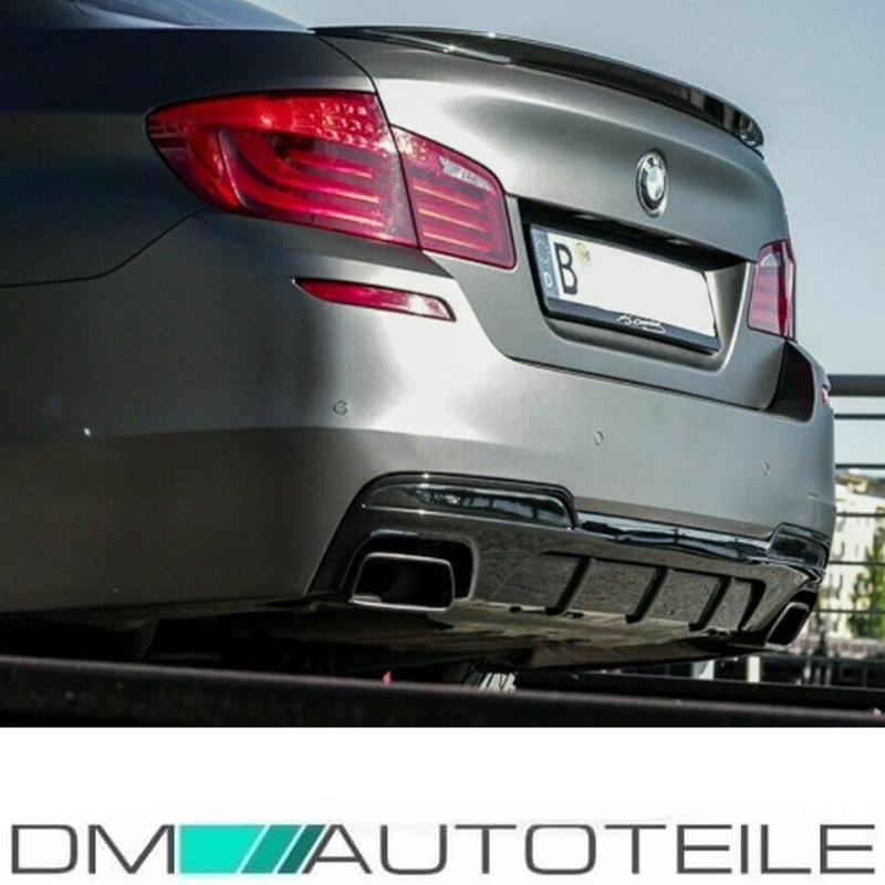 exhaust muffler tips tail pipes fits on bmw f10 f11 m sport oval 550 black chrom