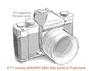FUJIFILM X-T1予測スケッチ