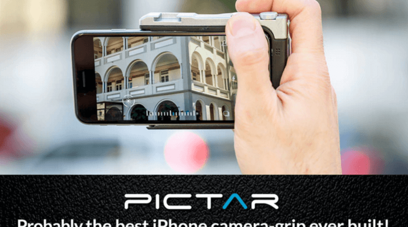 PICTAR. Probably the best iPhone camera-grip ever built.