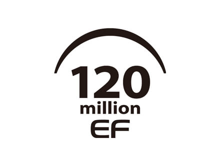 EFレンズ累計生産本数1億2,000万本を達成
