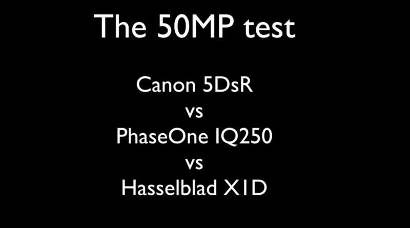 Canon 5DsR vs PhaseOne IQ250 vs Hasselblad X1D