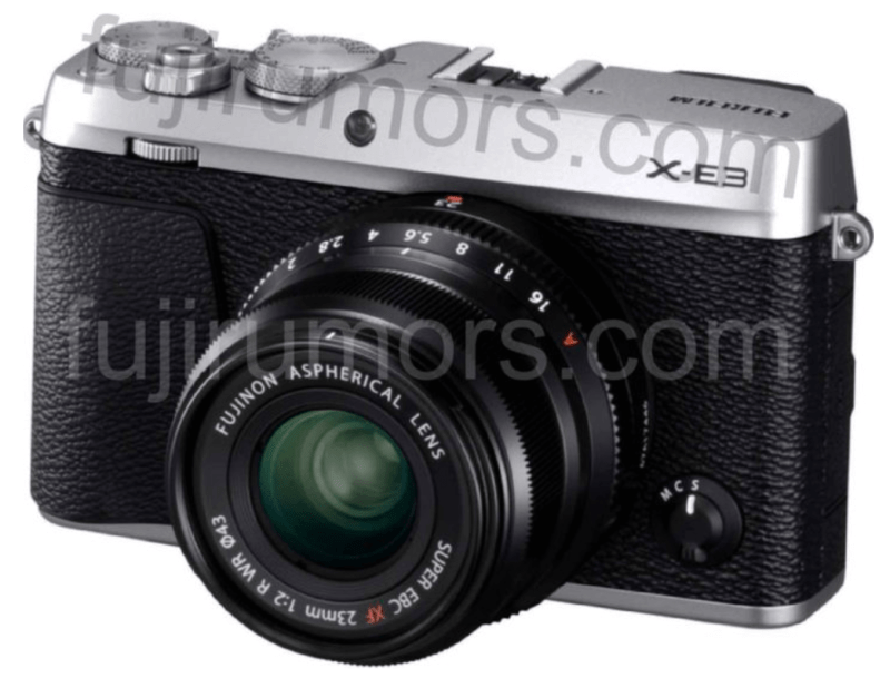 Enjoy the FIRST IMAGES of the FUJIFILM X-E3 Front and Back!