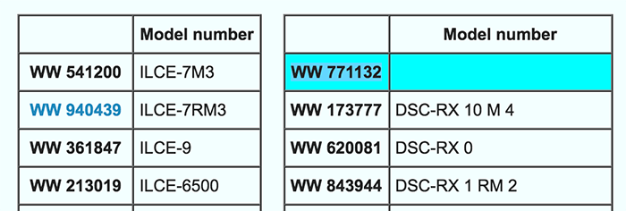 Just recently Sony registered a new camera code in Asia (WW771132).