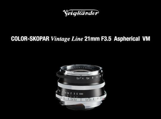 Cosina Voigtländer Color-Skopar Vintage Line 21mm f/3.5 Aspherical VM-Mount