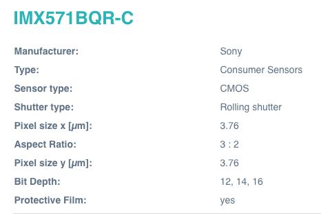 SONY IMX571BQR-C