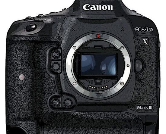 Rendering Canon EOS-1Dx Mark III