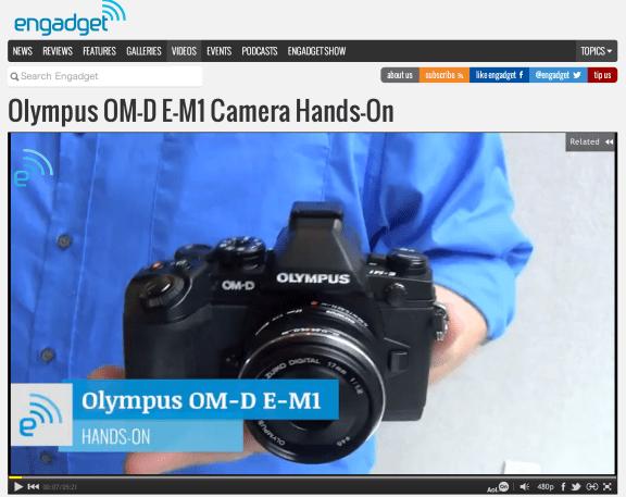 Olympus OM-D E-M1 Camera Hands-On