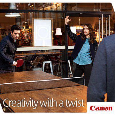 キヤノンフランスのティザー広告