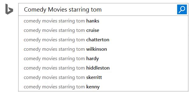 Bingがオートコンプリートを強化。学術論文と映画のクエリ候補を高度に推測07