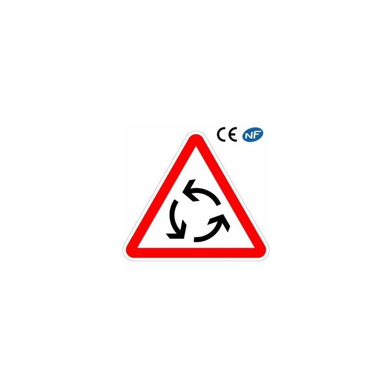 panneau de circulation carrefour a sens giratoire ab25