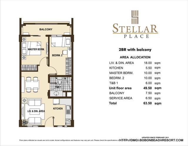 Stellar Place 2 Bedroom Layout