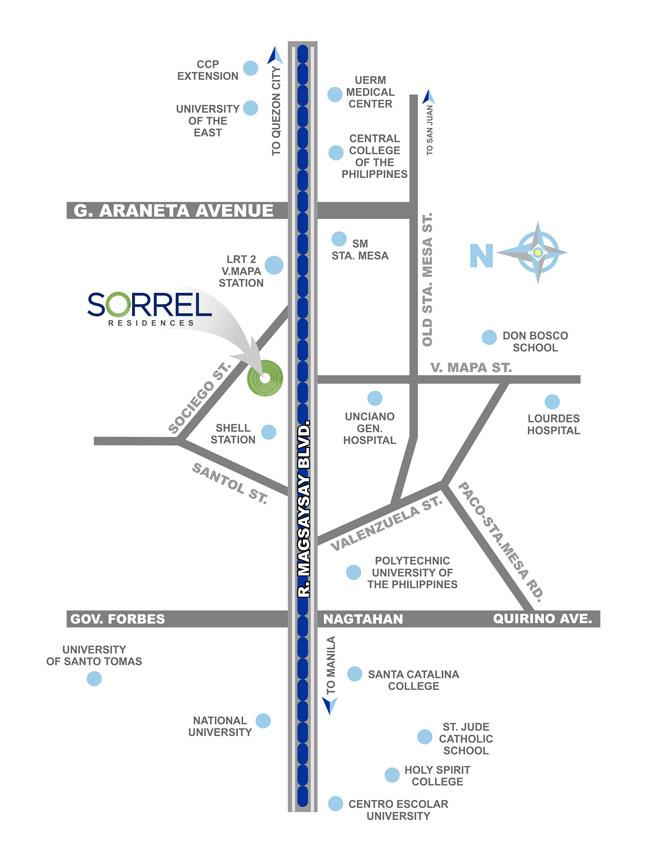 Sorrel Location Map