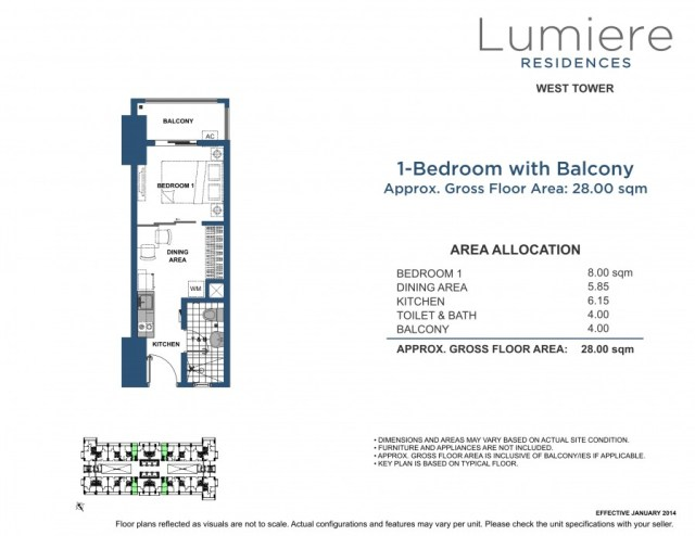 Lumiere Residences 1BR+28+00+sqm+WT