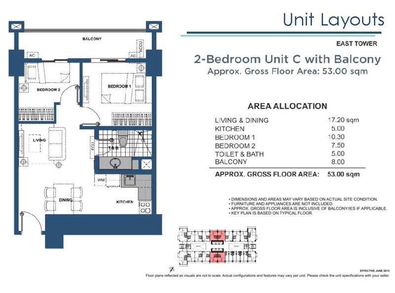 Lumiere Residences 2 Bedroom C with Balcony East