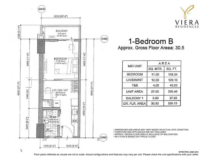 Viera Residences 1 Bedroom B