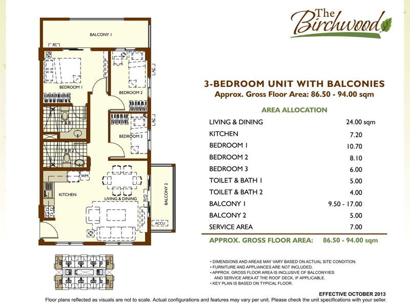The Birchwood Residences 3BR unit