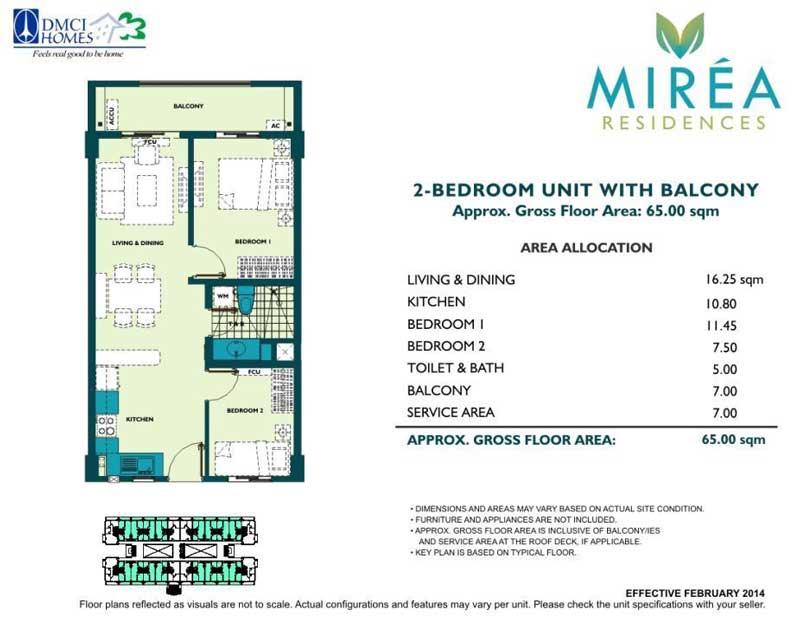 Mirea Residences 2BR B 51 qm