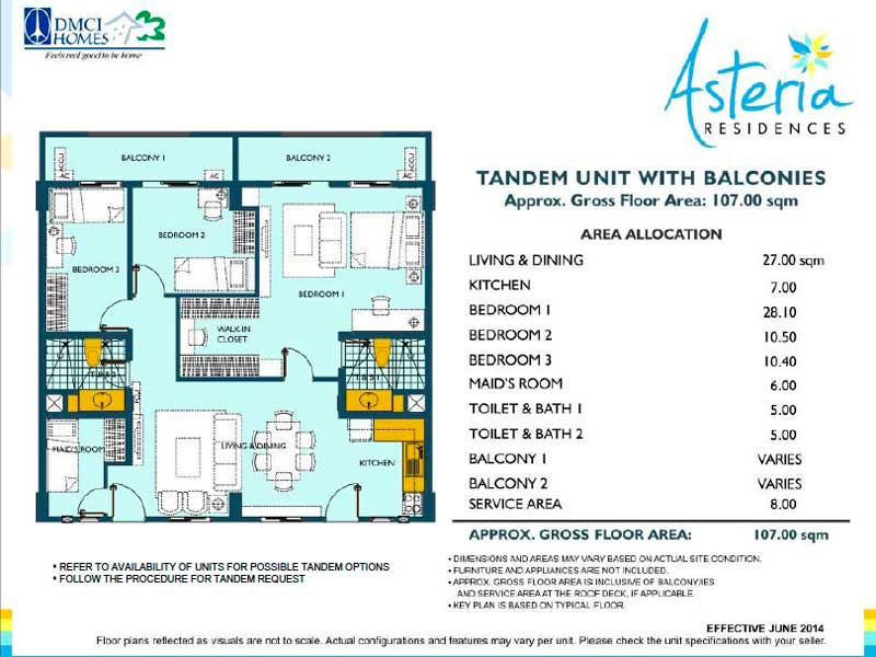 Asteria Residences Tandem Layout