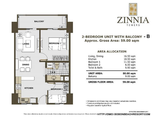 Zinnia Towers 2 Bedroom with Balcony B