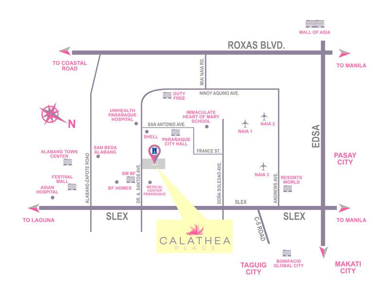 Calathea Place Location-Map
