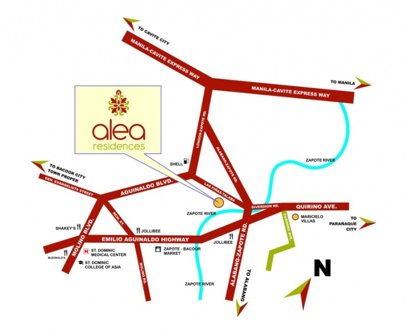 Alea Residences Location Map