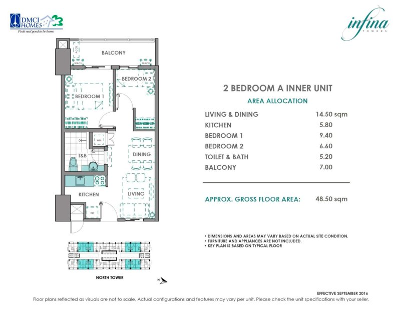 Infina Towers 2 Bedroom A