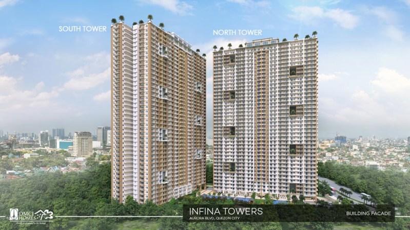 Infina Towers DMCI Facade