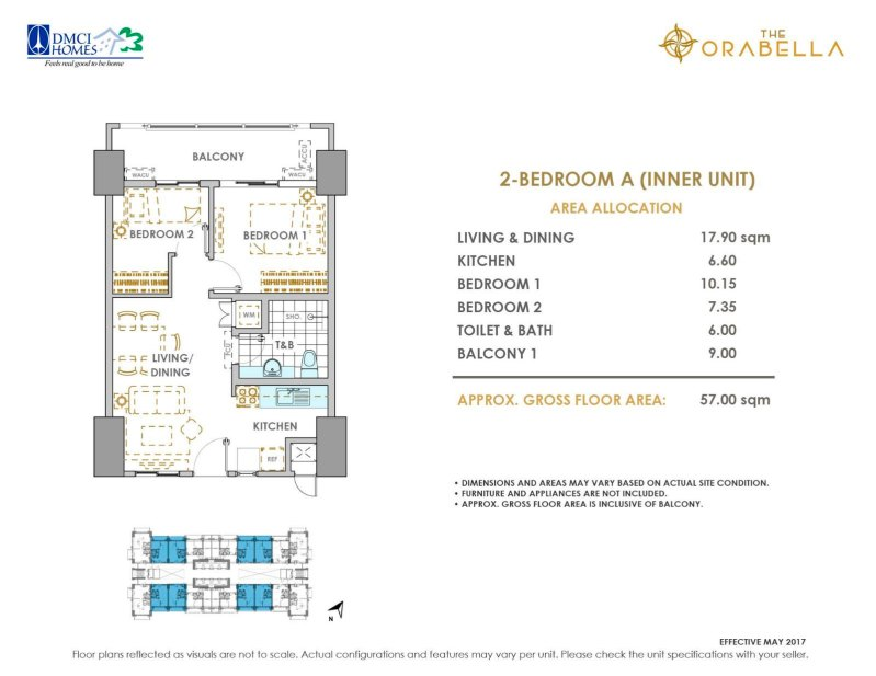 The Orabella DMCI 2 Bedroom A