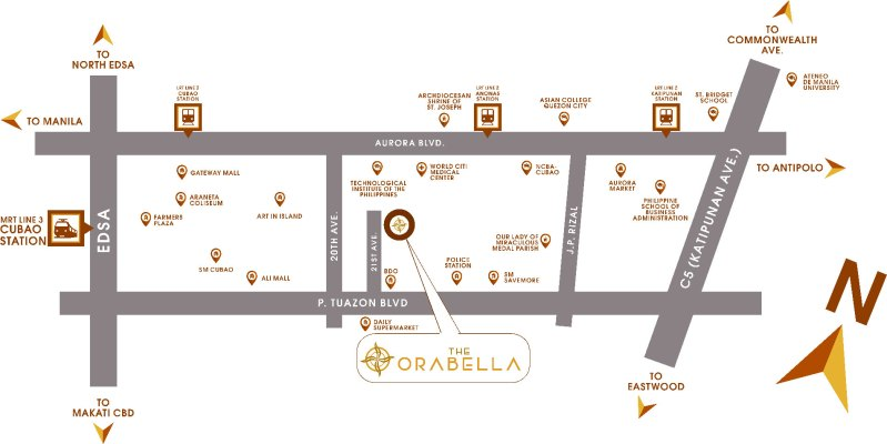 The Orabella DMCI Location Map