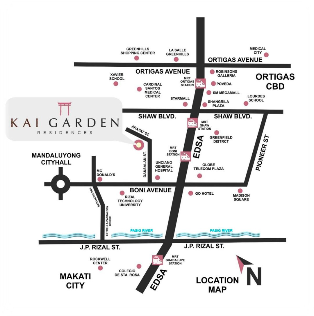 Kai Garden Residences Location Map