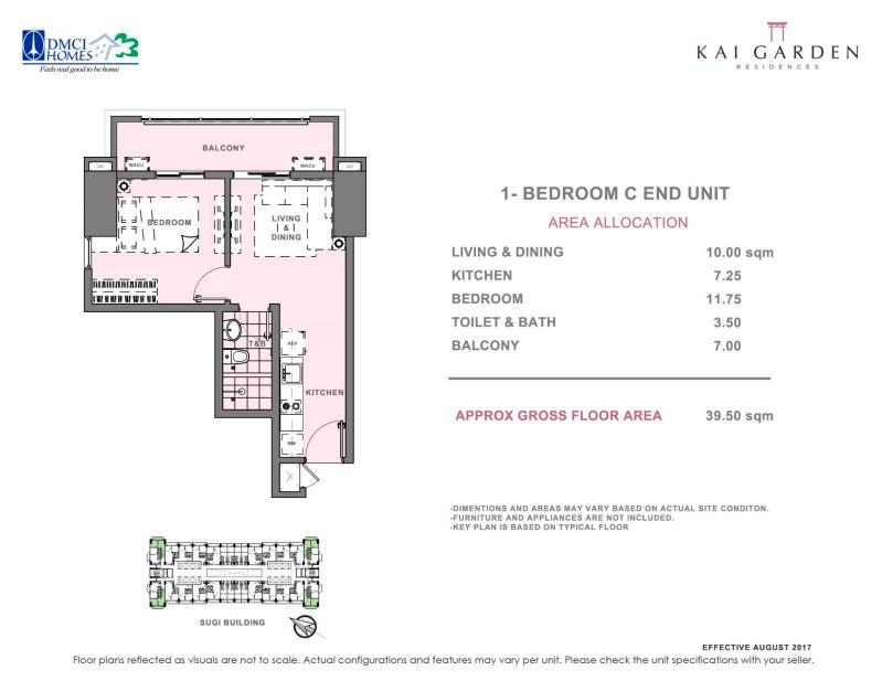 Kai Garden Residences 1 Bedroom C
