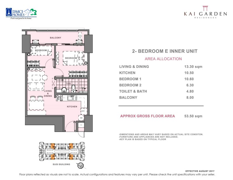 Kai Garden Residences 2 Bedroom E