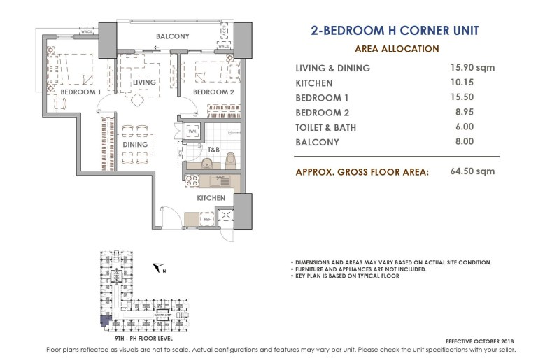 Aston Residences 2 Bedroom Corner