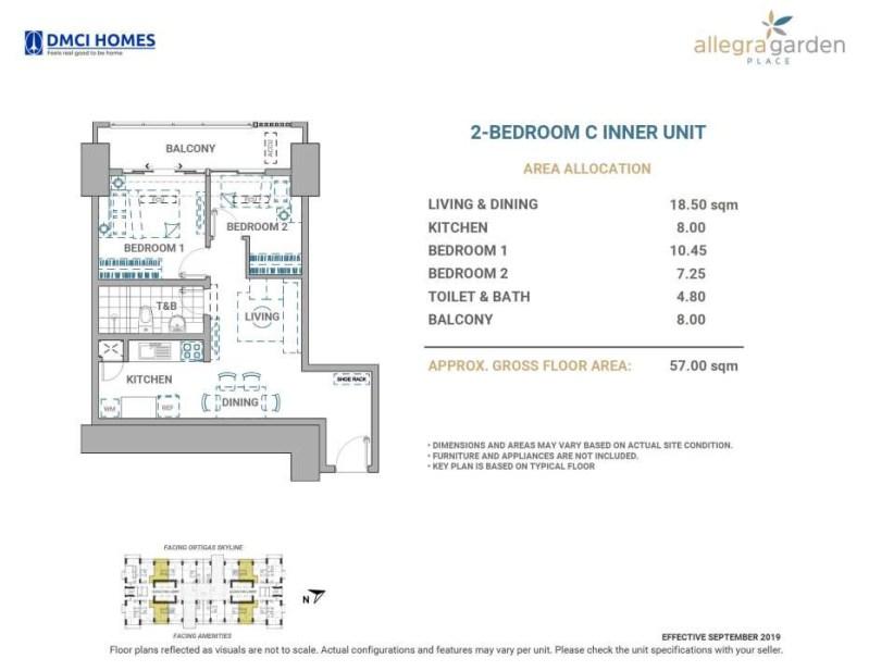 Allegra Garden Place 2BR C