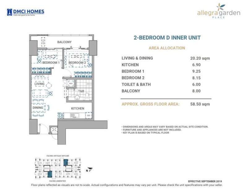 Allegra Garden Place 2BR D