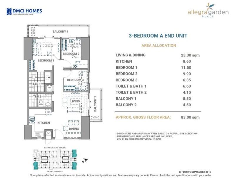 Allegra Garden Place DMCI 3BR