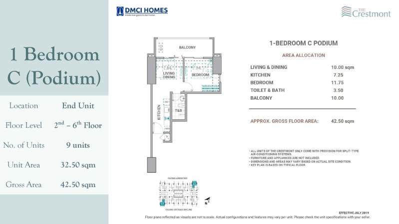 1 Bedroom Crestmont DMCI for sale