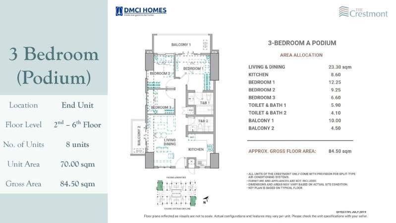 3 Bedroom Crestmont DMCI for sale